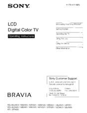 sony kdl 46ex400 bravia ex series lcd television manuals rh manualslib com Sony BRAVIA Flat Screen TV Sony LCD Projection TV