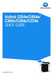 KONICA MINOLTA BIZHUB C554E QUICK MANUAL Pdf Download