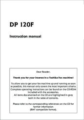 Toshiba DP120F Instruction Manual