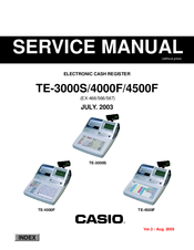 Casio TE-3000S - Cash Register Service Manual