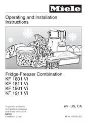 Miele KF 1801 SF Operating And Installation Instructions