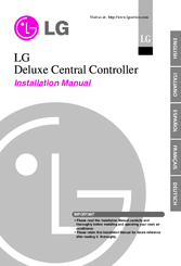 LG Deluxe central controller Installation Manual