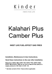 Kinder kalahari he gas fire instructions | manualzz. Com.