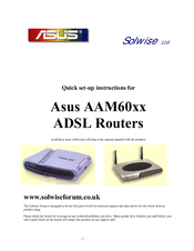Asus AAM60VI Quick Setup Instructions Manual