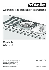 Miele CS 1018 Operating And Installation Instructions