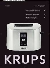 Krups GSEB008 Instructions For Use Manual