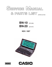 Casio BN-10 Service Manual & Parts List