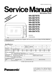 Panasonic Genius Prestige Nn Sd797s Service Manual