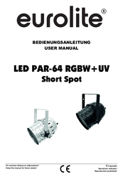 Eurolite led par-64 rgb spot alu 10mm.