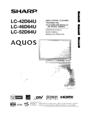sharp aquos lc 46d64u manuals rh manualslib com sharp aquos lc46d64u manual Sharp Aquos TV Problems