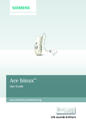 Siemens Ace binax User Manual