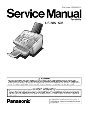 Panasonic uf-5500 manuals.