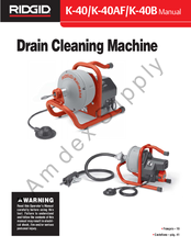 ridgid k 40 manual pdf download rh manualslib com