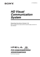 Sony Ipela PCS-XG80 Operating Instructions Manual