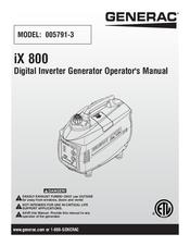 Generac Power Systems IX 800 Manuals