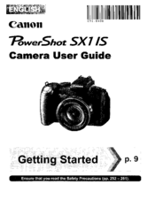 canon powershot sx1 is user manual pdf download rh manualslib com Canon PowerShot SX230 HS Canon PowerShot SX230 HS
