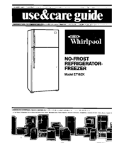 Whirlpool ETl8ZK Use And Care Manual