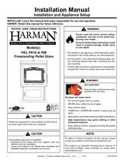 harman p43 pellet stove manual