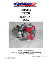honda gx160 starting instructions