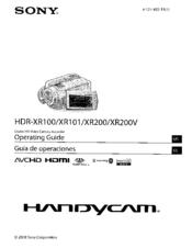 sony hdr xr200v manuals rh manualslib com Sony Handycam HDR- CX260V Review Sony Handycam HDR CX 220