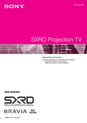 Sony Bravia KDS-60R2000 Operating Instructions Manual
