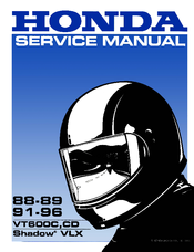 honda vt600c shadow vlx service manual pdf download rh manualslib com vt 600 service manual download Honda Shadow