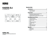Korg Kaoss DJ Operation Manual