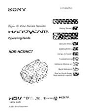 sony handycam hdr hc7 manuals rh manualslib com Sony Handycam Docking Station Sony Camcorder