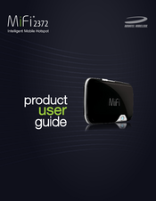 novatel mifi 2372 product user manual pdf download rh manualslib com nrm-mifi 2372 manual novatel mifi 2372 manual