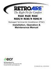 retro aire r24h manuals rh manualslib com RV Toilets Installation Diagrams Vinyl Graphics Installation Guide