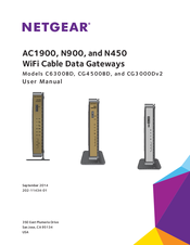 User manual netgear n300 wi-fi cable modem router c3000-100nas.