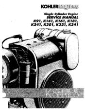 Kohler K301 Manuals on