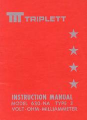 Triplett model-630-na-3 analog mm sm service manual download.