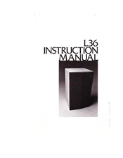 JBL L36 Instruction Manual
