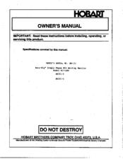 Hobart Beta-Mig 200 Manuals on