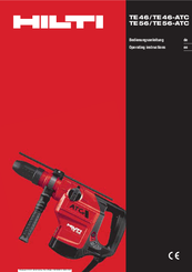 hilti te56 atc manuals rh manualslib com hilti te 56 user manual hilti te 56 service manual