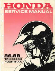 HONDA 86-88 TRX 200SX FOURTRAX SERVICE MANUAL Pdf Download. on