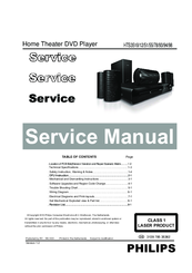 philips hts3510 service manual pdf download rh manualslib com Philips Home Theater System Manual Philips Home Theater System Manual