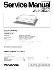 Panasonic WJHDE300 - DIGITAL DISK RECORDER Service Manual