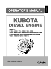 Kubota V2203-M-E3BG Manuals
