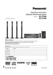 Panasonic SC-PT980 Operating Instructions Manual