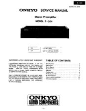 onkyo p 304 manuals rh manualslib com Stereo Systems Onkyo Preamplifier P30