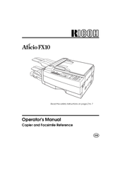 ricoh aficio fx10 manuals rh manualslib com