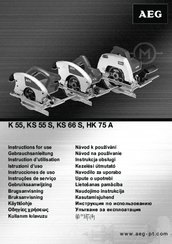 AEG K 55 Instructions For Use Manual