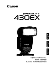 Canon 430EX - Speedlite II - Hot-shoe clip-on Flash Instruction Manual
