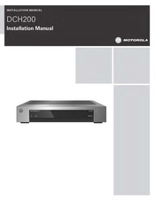 Motorola DCH200 Installation Manual