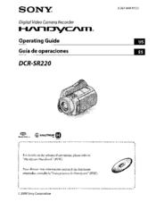 sony dcr sr220 handycam manuals rh manualslib com sony dcr sr220 driver Sony DCR- SX85