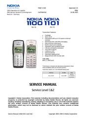 nokia 1100 cell phone gsm manuals rh manualslib com Nokia 3310 Nokia 1110
