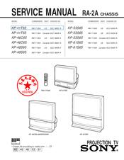 sony kp 53s65 53 projection tv manuals rh manualslib com Sony Projection TV Manual sony lcd projection tv manual