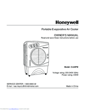 Honeywell CL60PM Series Owner's Manual